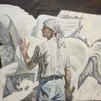 Пот и камень, портрет скульптора  Фирданта Нуриахметова, 2000